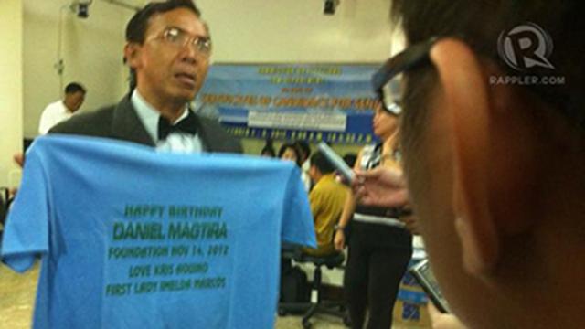 KRIS' HUSBAND. Daniel Magtira, 52, is a 'veteran' nuisance candidate. Photo by Reynaldo Santos Jr