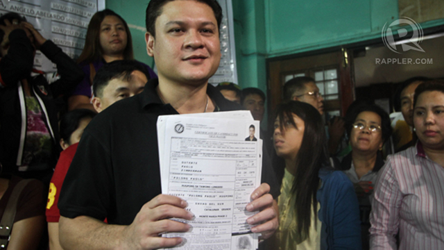 DUTERTE'S SON. The son of Rodrigo Duterte, Paolo, is running alongside his father. Photo by Karlos Manlupig