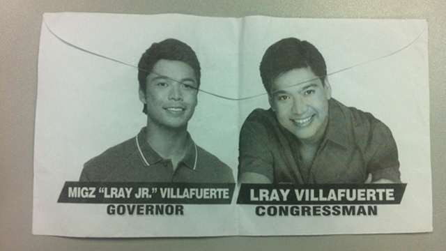 ENVELOPES. Envelopes with father and son's faces are making the rounds in Camarines Sur. Photo by RAPPLER