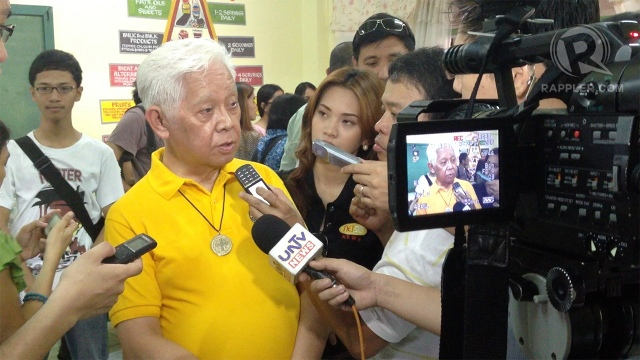 'NOT PERFECT.' Comelec chair Sixto Brillantes Jr says he expects a few glitches during the FTS. Photo by Paterno Esmaquel II