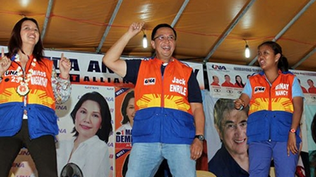 CATCHY JINGLE. In sorties and ads, Cagayan Rep Jack Enrile uses a catchy jingle and an accompanying dance to get people's attention. File photo from Enrile's Facebook page