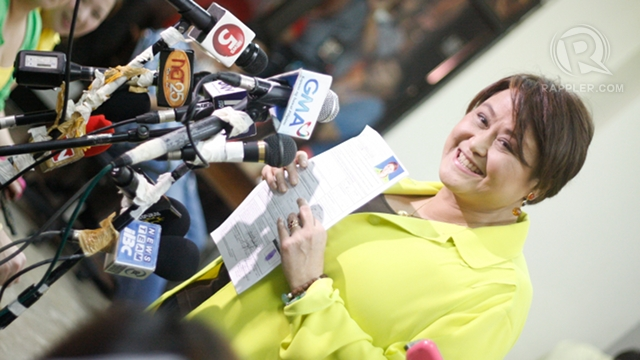 TWITTER GAME. Is administration bet Jamby Madrigal guilty of illegal campaigning? File photo by Don Regachuelo