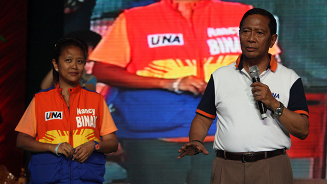 PROUD PATRIARCH. Vice President Jejomar Binay compares his daughter, Nancy, to Margaret Thatcher, saying like Britain's Iron Lady, she is the mother of twins. File photo courtesy of UNA Media Bureau