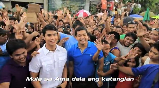 FATHER AND SON. Gov LRay Villafuerte is fielding his 24-year-old son Migz Villafuerte to take his place while he guns for the 2nd district congressional seat. Scrrenshot from Gov LRay's YouTube account