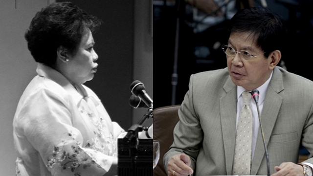 NON-ISSUE. Senatorial bets weigh in on gender after Sen Miriam Defensor Santiago revived gay rumors against Sen Panfilo Lacson. File photo of Santiago from her Facebook page, File photo of Lacson by Edward Ganal/Senate PRIB