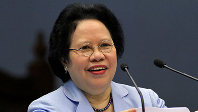 HER OWN LIST. A file photo of Sen Miriam Defensor-Santiago