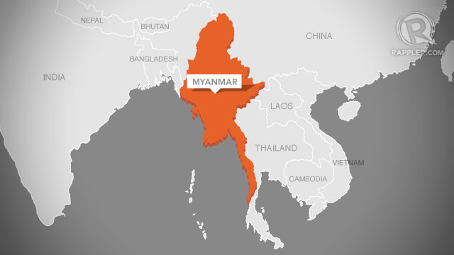 Myanmar On Map Of Asia.Fresh Religious Unrest Breaks Out In Myanmar Police