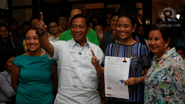 COMPLETING SLATE. UNA had a hard time forming its slate, fielding accidental candidate Nancy Binay at the last minute to form the ticket. File photo by Don Regachuelo