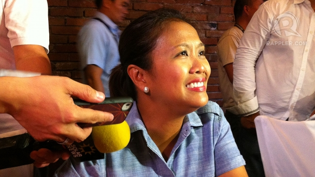 'SENATE'S MOTHER.' Senator-elect Nancy Binay says she will pursue her campaign platform of pushing for more daycare and feeding centers and an expanded immunization program. Photo by Rappler/Ayee Macaraig
