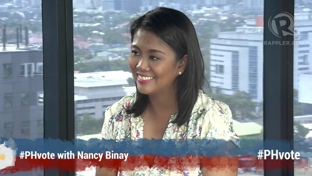 'BETTER VERSION.' Nancy Binay says her goal is to be like her father, Vice President Jejomar Binay, or even be a better version of him. She says they are like different variants of the same soda: Coke Light and Coke Zero.
