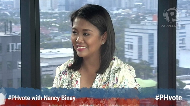 'REGULATION NEEDED.' Senator-elect Nancy Binay says there is a need to regulate social media and political ads on TV. She plans to look into these issues in the Senate.