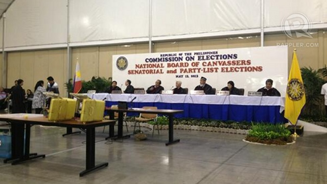 FINAL SAY. The Comelec, sitting as the national board of canvassers, will finalize the tally for senatorial and party-list results. Photo by Paterno Esmaquel II