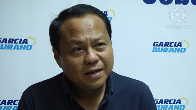 """CONTINUING LEGACY. Cebu 3rd District Rep Pablo John """"PJ"""" Garcia vows to continue the legacy of his sister, suspended Gov Gwen Garcia, if he wins as governor. Photo by Rappler/Franz Lopez"""