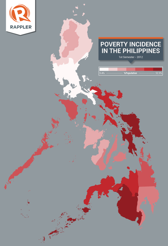 MAP The poorest provinces in PH