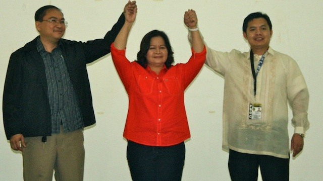 WINNER. The Pampanga provincial board of canvassers proclaimed Gov. Lilia Pineda as the winner of 2013 gubernatorial race.