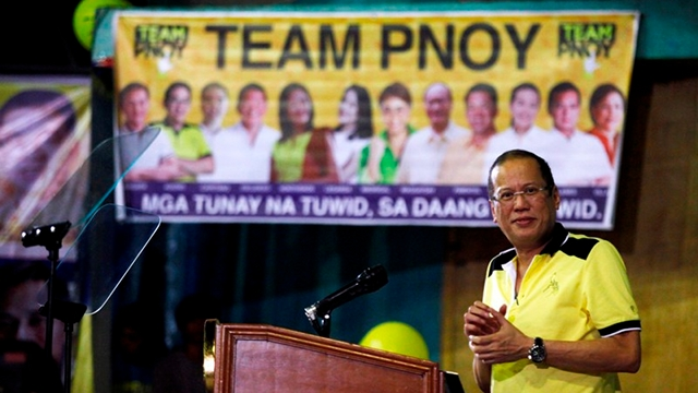 ILLEGAL CAMPAIGNING? Groups accuse President Benigno Aquino III of using government funds to push for the administration's senatorial bets. Photo by Gil Nartea/Malacañang Photo Bureau