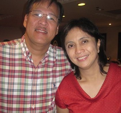 Atty. Leni Robredo with late DILG Secretary Jessie Robredo. Photo from Facebook