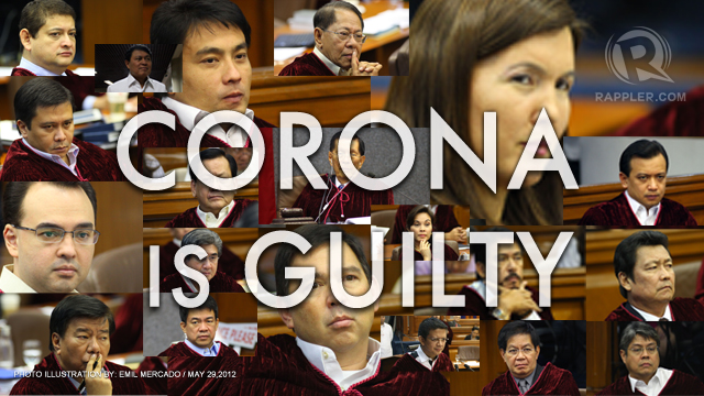 corona impeachment trial reaction paper Impeachment compromises both the act of formulating the accusation and the resulting trial of charges it is frequently but mistakenly taken to mean removal from office of an accused official an impeachment trial may result in an acquittal or in a verdict of guilty.
