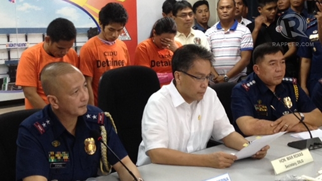 MURDER SUSPECTS. One of the 3 suspects in the murder of Mayor Erlinda Domingo is only 26. Photo by Paterno Esmaquel II