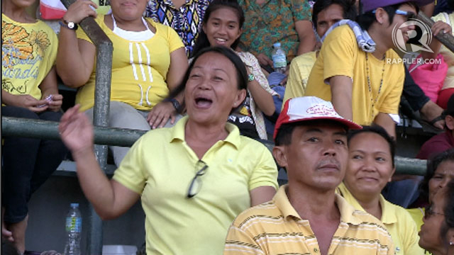 DANCING QUEEN. A Mindanaoan enjoys the Team PNoy rally in Cagayan de Oro. Photo by Natashya Gutierrez.