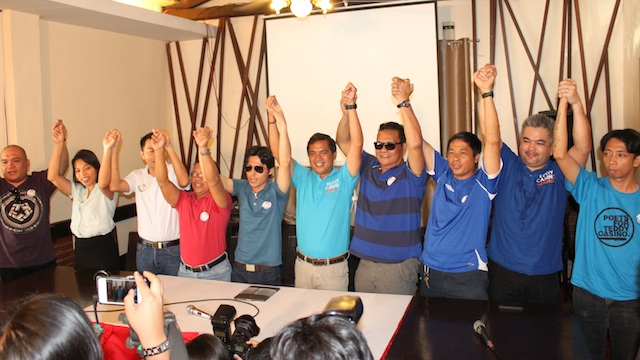 SUPPORT SYSTEM. Celebrity endorsers and activists endorse Teddy Casiño for senator. Photo by Teddy Casiño's media team