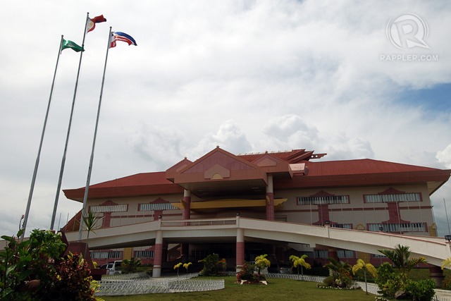 SYMBOL OF AMPATUAN POWER. The former provincial capitol of Maguindanao in Sharif Aguak. Photo by Cocoy Sexcion