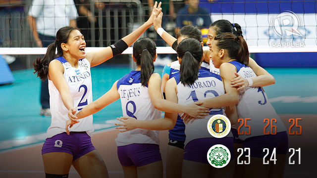 Ateneo upsets De La Salle, wins first UAAP volleyball crown