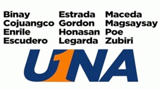 Screenshot of UNA senatorial slate ad that began airing January 7