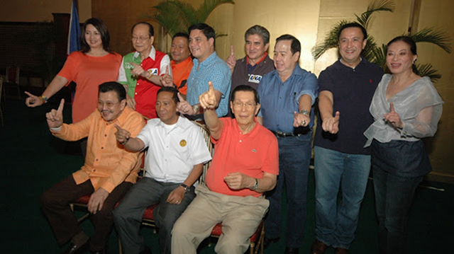OPPOSITION COALITION. Maceda is running under the opposition United Nationalist Alliance (UNA) of Vice President Jejomar Binay. File photo from http://pdplabanmedia.blogspot.com/