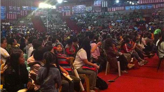 UNA CROWD. The United Nationalist Alliance also failed to fill up their venue at the Baguio Convention Center. Photo by Ayee Macaraig.