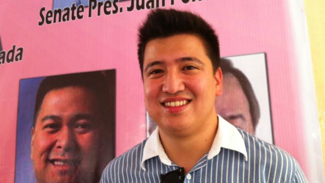 VICE MAYORALTY CANDIDATE. Vic-Vic Magsaysay, son of senatorial candidate Mitos Magsaysay, is running for Olongapo City vice mayor. Photo by Ayee Macaraig