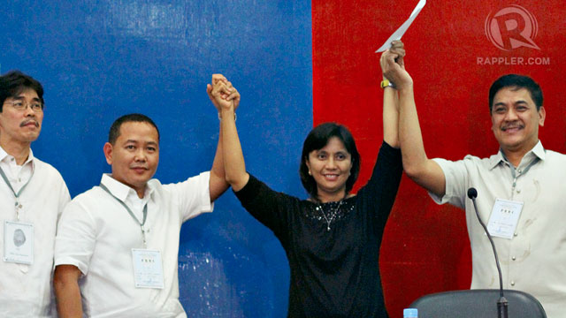 PROCLAMATION. Leni Robredo is proclaimed winner in Camarines Sur. File photo by Allan Camata